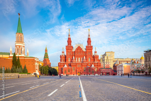 Historical buildings at the Red Square in Moscow