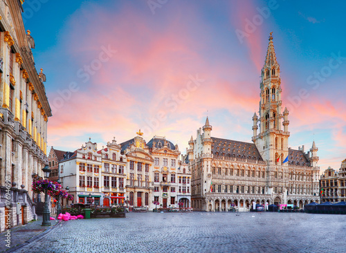 Stickers pour portes Bruxelles Brussels - Grand place, Belgium, nobody