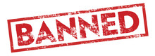 Banned Square Sign Stamp