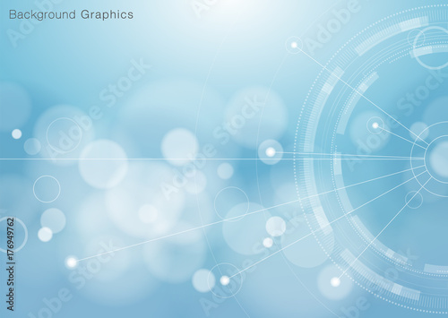 Obraz Abstract Blue Background #Vector Graphics  - fototapety do salonu