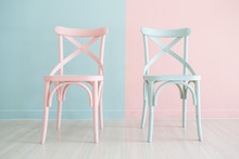 Vintage Wooden Chair Painted T...