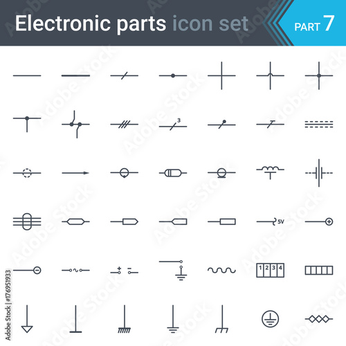 Complete Vector Set Of Electric And Electronic Circuit Diagram