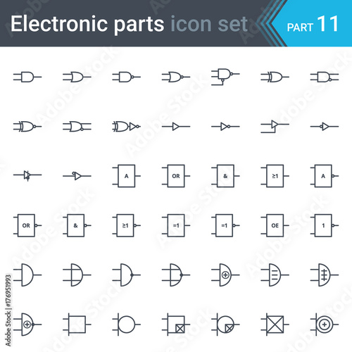 complete vector set of electric and electronic circuit diagram rh stock adobe com