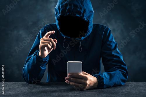 Fotografie, Obraz  暗い雰囲気の男性