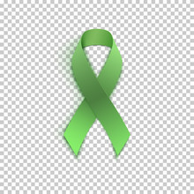 Green Ribbon On Transparent Ba...