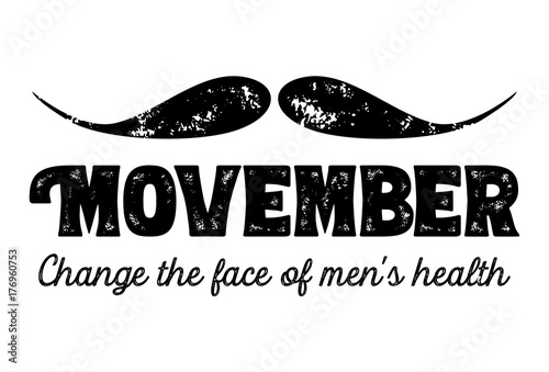Photo  Movember, awareness of men's health issues. Vector