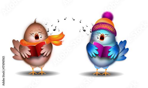 dwa-ubrane-ptaszki-w-trakcie-spiewania