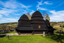 Former Orthodox Church Of The Protection Of The Mother Of God In Rownia Village, Bieszczady, Poland