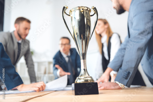 Fotografie, Obraz  champion cup standing in office
