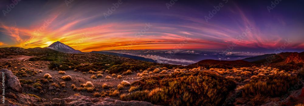 Fototapety, obrazy: Atardecer Parque Nacional del Teide