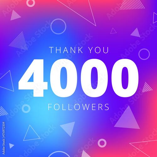 Fotografia, Obraz  Thank you 4000 followers network post