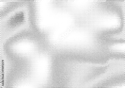 Fotografía  Futuristic abstract horizontal semitone background with unevenly accumulated dots of different size