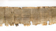 canvas print picture - One of Dead Sea Scrolls, displayed in Shrine of the Book. Israel Museum, Jerusalem. Israel.