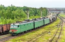 Freight Train At Bekasovo-Sort...
