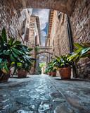 Fototapeta Alley - Per i vicoli di Spello