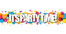 IT'S PARTY TIME Colourful Vector Banner