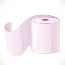 Roll Of Toilet Paper With Perf...