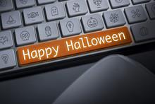 Happy Halloween Key On Compute...