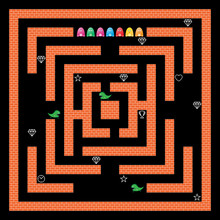 Monsters Maze Game Vector Design