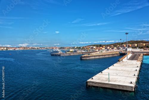 Plakat Golfo Aranci Hafen Sassari Sardinien