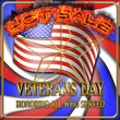 Veterans Day Hot Sale, 3D Illustration, Honoring all who served, American holiday template.