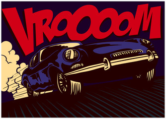 Pop art comic book style fa...