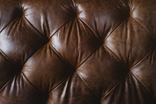 Brown Upholstered Leather Sofa