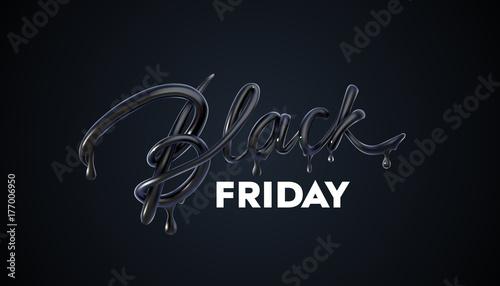Etykieta Black Friday Sale. Ilustracja wektorowa reklamy.