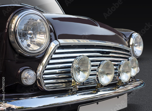 Canvas Prints Vintage cars Classic British car front view