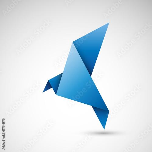 Photo ptak origami wektor
