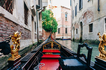 Riding In A Venice Gondola