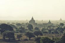 Bagan Temples At Sunrise, Myanmar