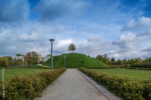 Plakat Pochmurny jesienny dzień w parku