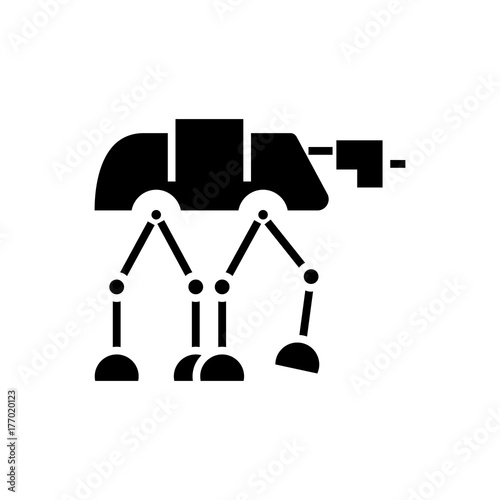 Photo robot warior armored transport  icon, illustration, vector sign on isolated back