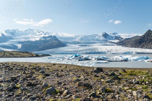 Plakat Vista del Glaciar Fjallsjokull i Islandia