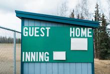 Baseball Score Board Empty