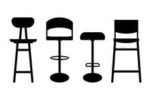 Bar Stool Icon - Four Variatio...