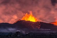 Volcanic Eruption In Holuhraun - Iceland