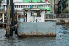 Old Barge On Bangkok River