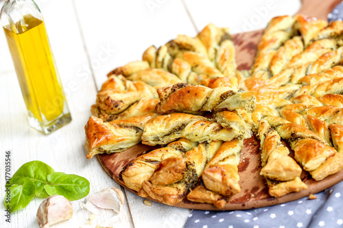 tarte soleil au pesto et basilic 2
