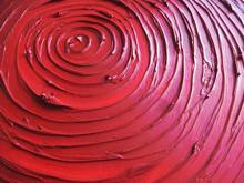 Intensely Red Abstract Art Piece Of Oil Paint