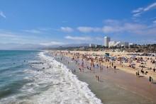 Santa Monica Beach View From Pier.