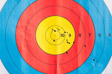 Archery Target With Arrows Holes