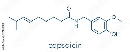Fototapeta  Capsaicin chili pepper molecule