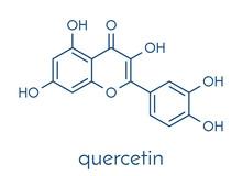 Quercetin Plant Molecule. Skeletal Formula.