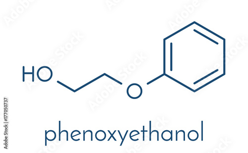 Photo Phenoxyethanol preservative molecule