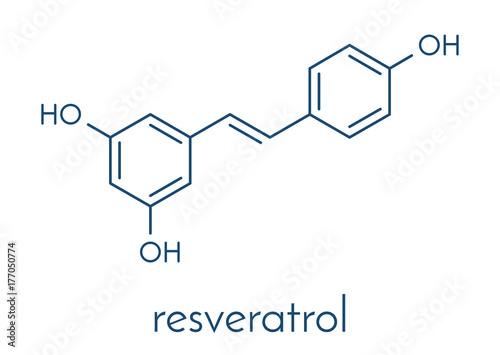 Photo Resveratrol molecule