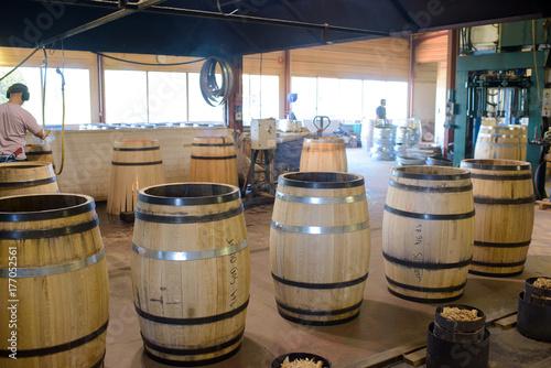 display of barrels