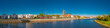 Panoramic view of Elbe, cathedral and old town in Magdeburg