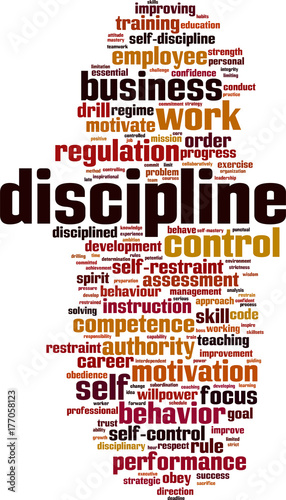 Discipline Word Cloud Buy This Stock Vector And Explore Similar